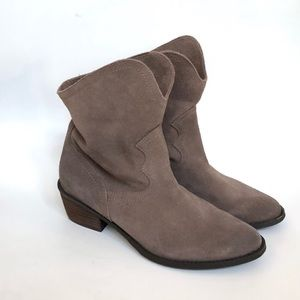 Naughty Monkey beige suede ankle booties • new